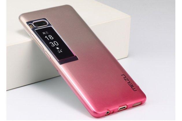 Фирменная ультра-тонкая полимерная задняя панель-чехол-накладка из силикона для Meizu Pro 7 прозрачная с эффектом грозы