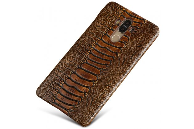 Фирменная элегантная экзотическая задняя панель-крышка с фактурной отделкой натуральной кожи крокодила кофейного цвета для Meizu U20 5.5 . Только в нашем магазине. Количество ограничено.