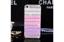 Фирменная роскошная элитная пластиковая задняя панель-накладка украшенная стразами кристалликами и декорированная элементами для Meizu U20 5.5 фиолетовая