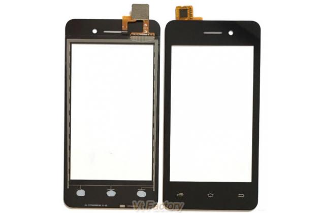 Фирменное сенсорное стекло-тачскрин на Micromax Q415 Canvas Pace 4G 4.5 черный и инструменты для вскрытия + гарантия