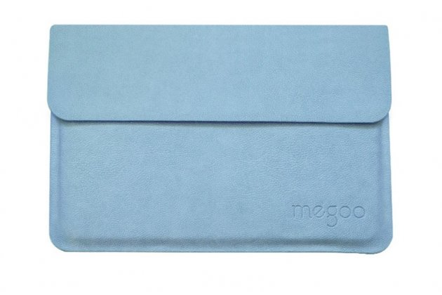 Фирменный оригинальный чехол-клатч-сумка для Microsoft Surface Book 13.5 из качественной импортной кожи голубой