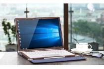 Фирменный оригинальный чехол с логотипом для Microsoft Surface Book 13.5 коричневый