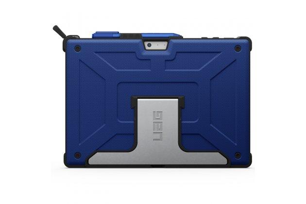 Противоударный усиленный ударопрочный фирменный чехол-бампер-пенал для Microsoft Surface Book 13.5 синий