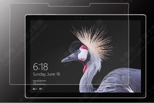 Фирменное защитное закалённое противоударное стекло для планшета Microsoft Surface Pro 5 из качественного японского материала премиум-класса с олеофобным покрытием