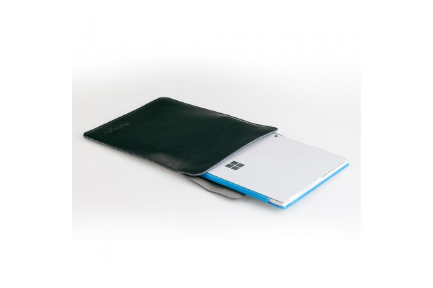 Фирменный оригинальный чехол-клатч-сумка для Microsoft Surface Pro 5 из качественной импортной кожи коричневая