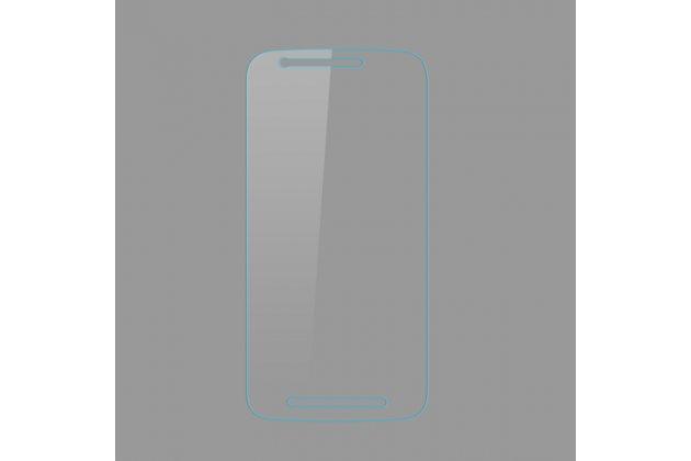 Фирменное защитное закалённое противоударное стекло премиум-класса из качественного японского материала с олеофобным покрытием для телефона Motorola Moto E3 / E3 Power (XT1706) 5.0
