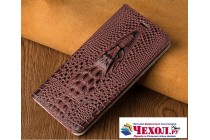 Фирменный роскошный эксклюзивный чехол с объёмным 3D изображением кожи крокодила цвет красное вино для Motorola Moto G4  Только в нашем магазине. Количество ограничено