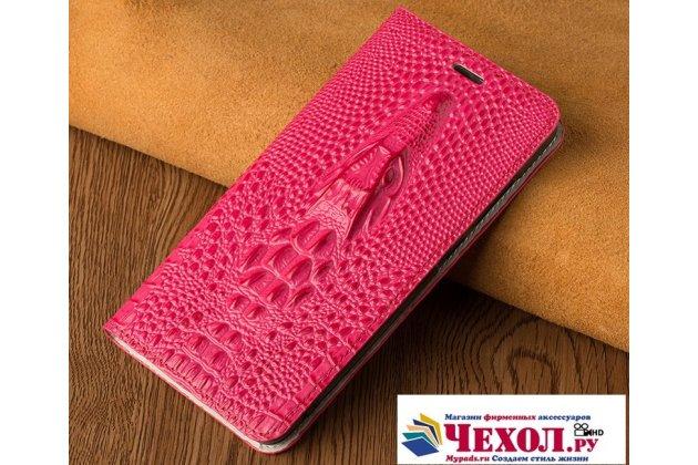 Фирменный роскошный эксклюзивный чехол с объёмным 3D изображением кожи крокодила розовый для Motorola Moto G4  Только в нашем магазине. Количество ограничено