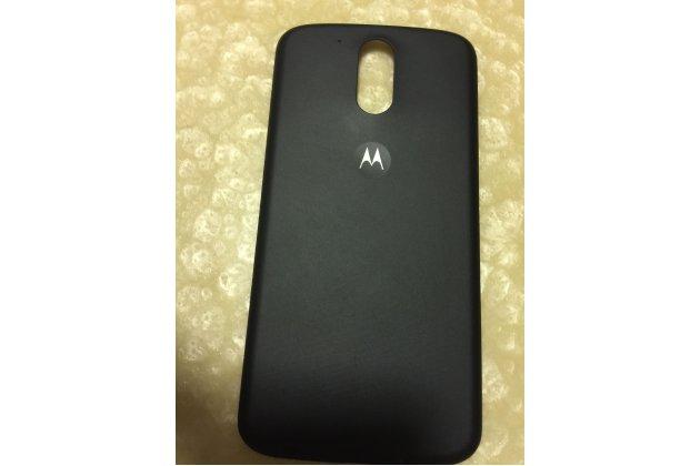 Родная оригинальная задняя крышка-панель которая шла в комплекте для Motorola Moto G4 черная