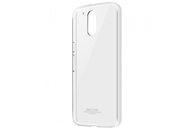 Фирменная ультра-тонкая пластиковая задняя панель-чехол-накладка для Motorola Moto G4 прозрачная