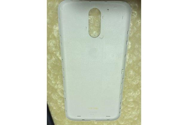 Родная оригинальная задняя крышка-панель которая шла в комплекте для Motorola Moto G4 белая