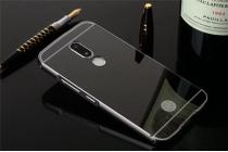 Фирменная металлическая задняя панель-крышка-накладка из тончайшего облегченного авиационного алюминия для Motorola Moto M (XT1662) 5.5 черная