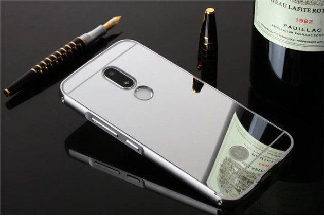 Фирменная металлическая задняя панель-крышка-накладка из тончайшего облегченного авиационного алюминия для Motorola Moto M (XT1662) 5.5 серебристая