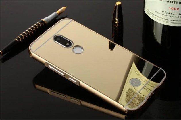 Фирменная металлическая задняя панель-крышка-накладка из тончайшего облегченного авиационного алюминия для Motorola Moto M (XT1662) 5.5 золотая