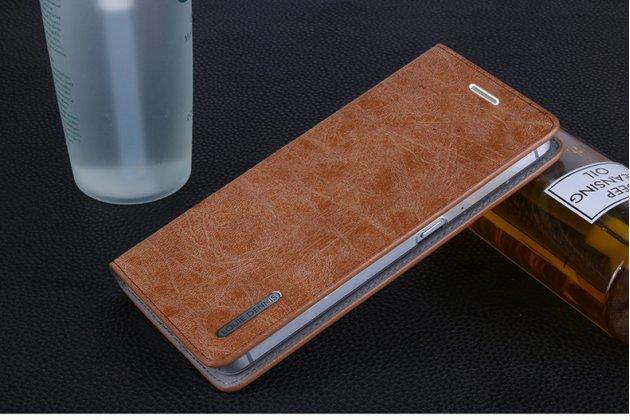 """Фирменный премиальный элитный чехол-книжка из качественной импортной кожи для Motorola Moto M (XT1662) 5.5 """"Ретро под старину"""" коричневый"""