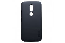 Фирменная задняя панель-крышка-накладка из тончайшего и прочного пластика для Motorola Moto M (XT1662) 5.5 черная