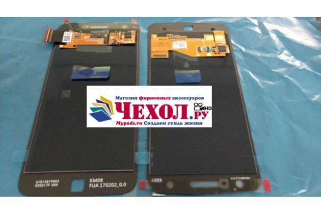 Фирменный LCD-ЖК-сенсорный дисплей-экран-стекло в сборе с тачскрином на телефон Moto Х Play (XT1635-03) 5.5 / Motorola Moto Z Play (XT1635-03-02) 5.5 черный + гарантия