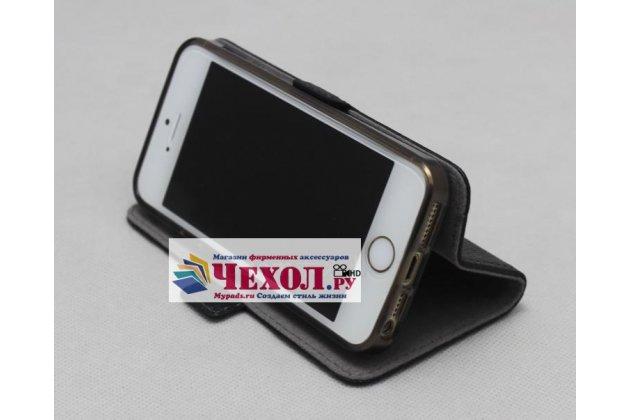 Фирменный чехол-книжка  из качественной импортной кожи с застёжкой и мультиподставкой для Moto Х Play (XT1635-03) 5.5 / Motorola Moto Z Play (XT1635-03-02) 5.5 коричневый