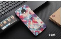 Фирменная роскошная задняя панель-чехол-накладка из мягкого силикона с объемным  3D изображением  на Motorola Moto Z c с безумно красивым рисунком  Тематика Яркая Мозаика