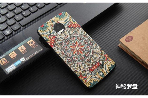 Фирменная роскошная задняя панель-чехол-накладка из мягкого силикона с объемным  3D изображением  на Motorola Moto Z c с безумно красивым рисунком Тематика Эклектические узоры