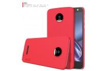 Фирменная задняя панель-крышка-накладка из тончайшего и прочного пластика для Motorola Moto Z красная