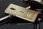 Фирменная металлическая задняя панель-крышка-накладка из тончайшего облегченного авиационного алюминия для Nokia 6 золотая