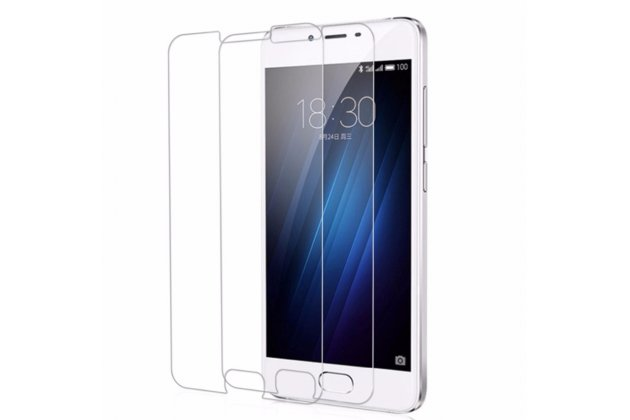 Фирменное защитное закалённое противоударное стекло для телефона Meizu U10 5.0 из качественного японского материала премиум-класса с олеофобным покрытием