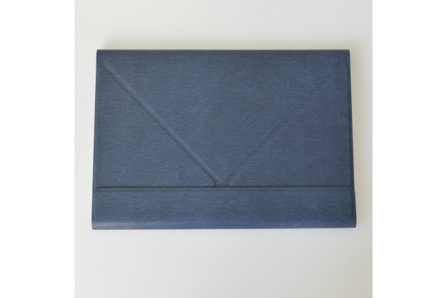 """Элитный умный чехол с подставкой """"Оригами"""" с блютуз клавиатурой  для Onda oBook 10 Pro 64Gb/Onda oBook 10 SE/ 10 SE 32Gb  натуральная кожа синий"""