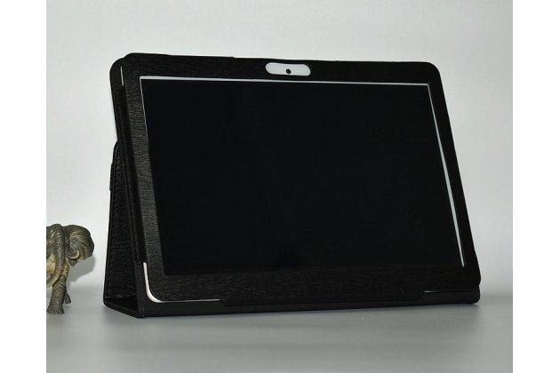 Фирменный чехол-футляр-книжка для Onda V96 черный кожаный