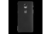 """Задняя противоударная неубиваемая панель-крышка из высокопрочного карбона для OnePlus 3T A3010/ OnePlus 3 A3000 / A3003""""  черная"""