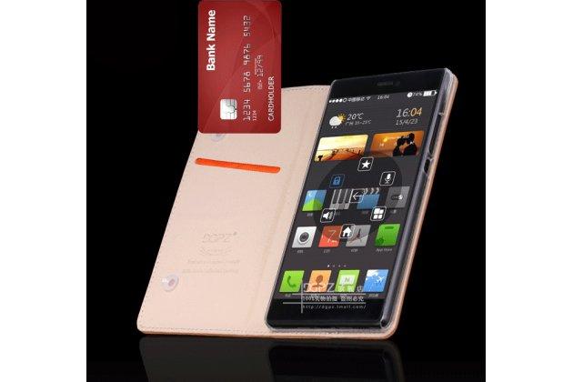 Фирменный чехол-книжка из качественной импортной кожи с мульти-подставкой и визитницей для OnePlus 3T A3010/ OnePlus 3 A3000 / A3003 синий