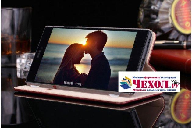 Фирменный чехол-книжка из качественной импортной кожи с мульти-подставкой и визитницей для OnePlus 3T A3010/ OnePlus 3 A3000 / A3003 черный