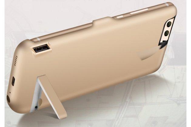 Чехол-бампер со встроенной усиленной мощной батарей-аккумулятором большой повышенной расширенной ёмкости 10000 mAh для OnePlus 3T A3010/ OnePlus 3 A3000 / A3003 золотой + гарантия