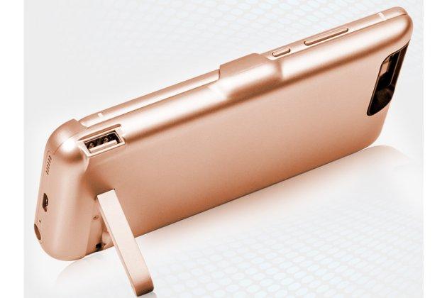 Чехол-бампер со встроенной усиленной мощной батарей-аккумулятором большой повышенной расширенной ёмкости 10000 mAh для OnePlus 3T A3010/ OnePlus 3 A3000 / A3003 розовое золото + гарантия