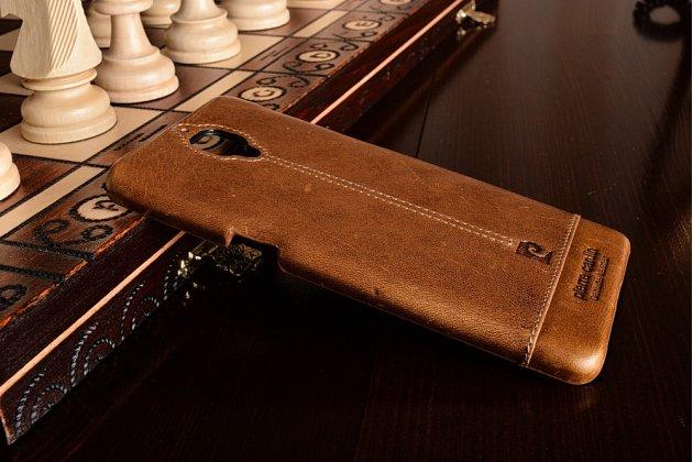 """Фирменная премиальная элитная крышка-накладка из тончайшего прочного пластика и качественной импортной кожи для OnePlus 3T A3010/ OnePlus 3 A3000 / A3003"""" коричневая"""