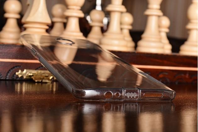 """Фирменная ультра-тонкая полимерная из мягкого качественного силикона задняя панель-чехол-накладка для OnePlus 3T A3010/ OnePlus 3 A3000 / A3003""""  черная с заглушками"""
