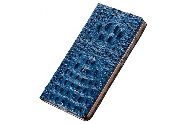"""Фирменный роскошный эксклюзивный чехол с объёмным 3D изображением кожи крокодила синий для OnePlus 3T A3010/ OnePlus 3 A3000 / A3003"""" . Только в нашем магазине. Количество ограничено"""