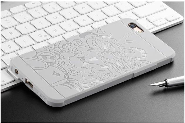 """Фирменная роскошная задняя панель-чехол-накладка из мягкого силикона с объемным 3D изображением на OPPO F3 тематика """"Дракон"""" белая"""