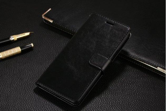 Фирменный чехол-книжка из качественной импортной кожи с подставкой застёжкой и визитницей для OPPO F3 черный