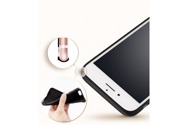 Фирменная ультра-тонкая полимерная из мягкого качественного силикона задняя панель-чехол-накладка для Oppo R11s Plus с дизайном черная