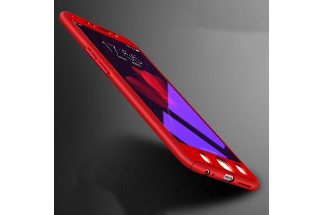 Фирменный уникальный чехол-бампер-панель с полной защитой дисплея и телефона по всем краям и углам для Oppo R11s Plus красный