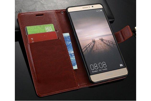Фирменный чехол-книжка из качественной импортной кожи с подставкой застёжкой и визитницей для Oppo R11s Plus черный