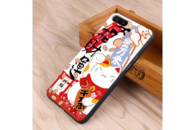 """Фирменная уникальная задняя панель-крышка-накладка из тончайшего силикона для Oppo R11s Plus с рисунком тематика """"Котик"""""""
