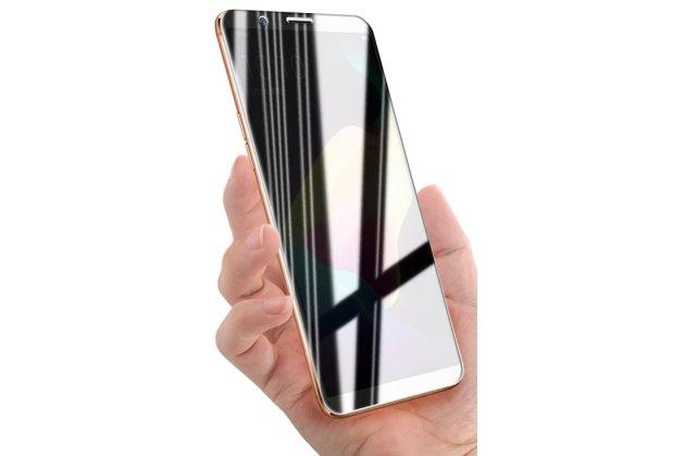 Фирменное защитное закалённое противоударное стекло для телефона Oppo R11s из качественного японского материала премиум-класса с олеофобным покрытием