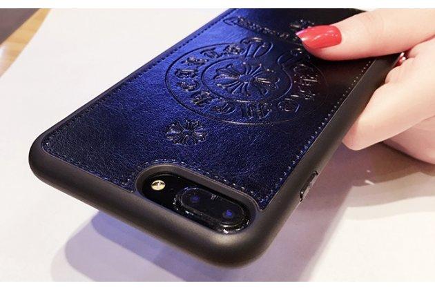 """Фирменная премиальная элитная крышка-накладка на Oppo R11s черная из качественного силикона с дизайном под кожу и с изображением """"Знаки"""""""