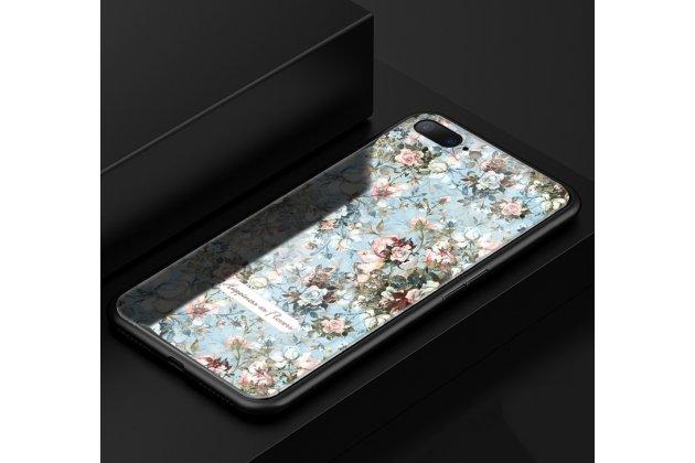 """Фирменная роскошная задняя панель-чехол-накладка из мягкого силикона с объемным 3D изображением на Oppo R11s с безумно красивым рисунком """"Цветущий сад"""""""