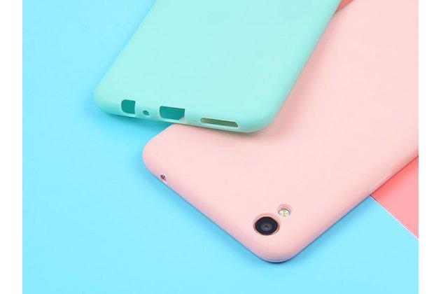 Фирменная ультра-тонкая полимерная из мягкого качественного силикона задняя панель-чехол-накладка для Oppo R9S Plus голубая