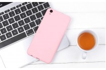 Фирменная ультра-тонкая полимерная из мягкого качественного силикона задняя панель-чехол-накладка для Oppo R9S Plus розовая