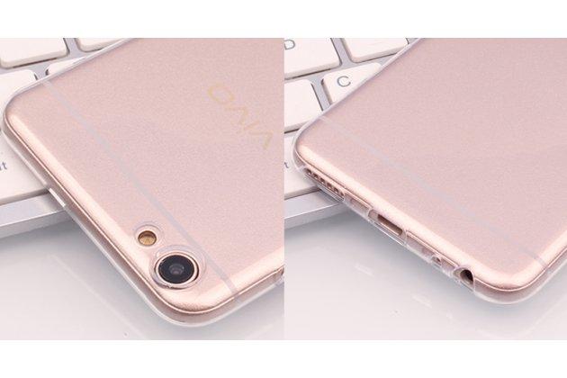 Фирменная задняя панель-чехол-накладка с защитными заглушками с защитой боковых кнопок для Oppo R9S прозрачная