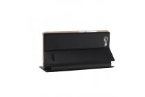 Фирменный чехол-футляр-книжка для OUKITEL C4 черный кожаный